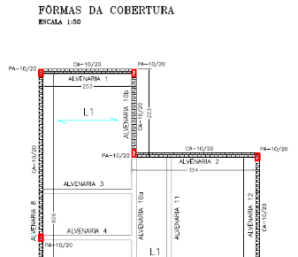 Projeto estrutural residencial (conc. armado e alvenaria autoportante)