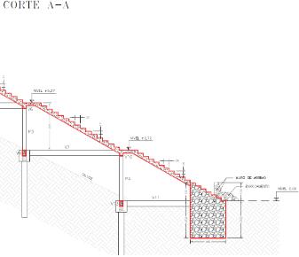 Escada, em concreto armado, na Orla de Ponta Negra/RN.